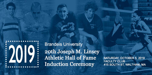 Collage of Brandeis athletes spanning several generations
